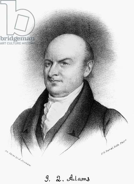 JOHN QUINCY ADAMS (1767-1848). Sixth President of the United States. Lithograph, 19th century.