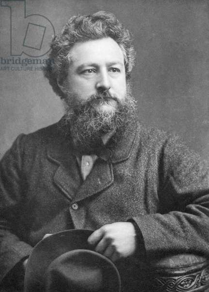 WILLIAM MORRIS (1834-1896) English artist and poet. Photographed on 21 March 1877.
