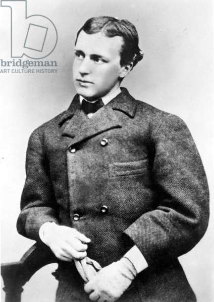 HENRY JAMES (1843-1916) American novelist. Photographed at age 17.