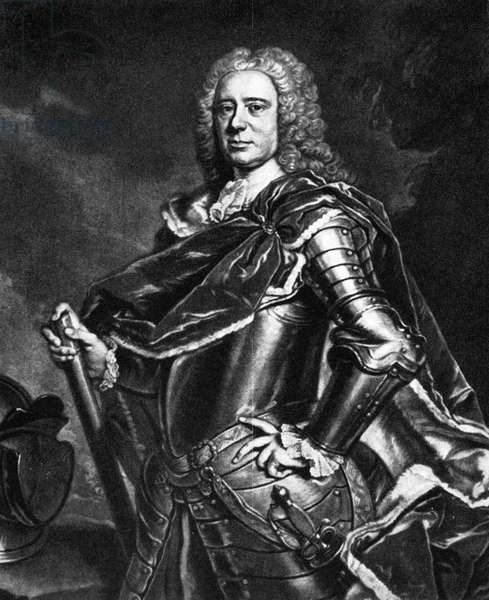 CHARLES CATHCART (1686-1740) 8th Baron Cathcart. Scottish soldier and nobleman. Mezzotint engraving, 18th century, after a painting by Allan Ramsay.