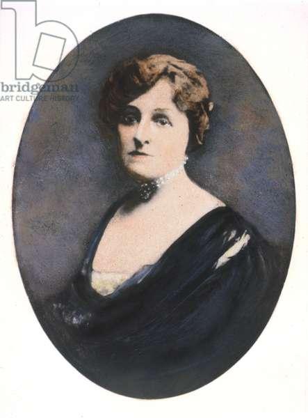 EDITH WHARTON (1862-1937) American writer. Oil over a photograph, c.1910, by Paul Thompson.