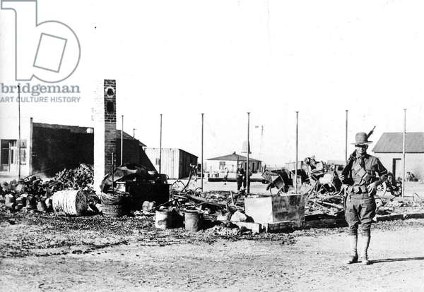 PANCHO VILLA'S RAID, 1916 Columbus, New Mexico after Pancho Villa's raid on March 9, 1916.