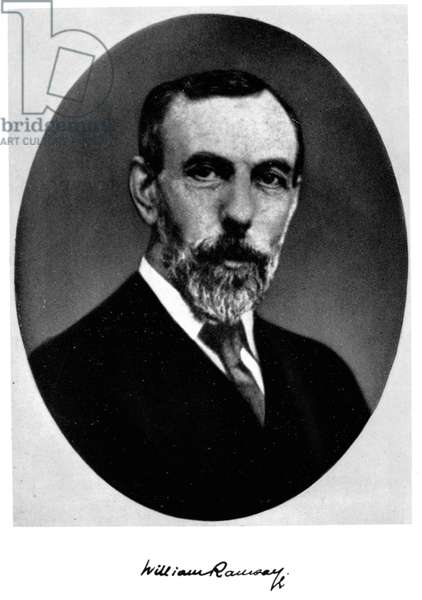 SIR WILLIAM RAMSAY (1852-1916). Scottish chemist.
