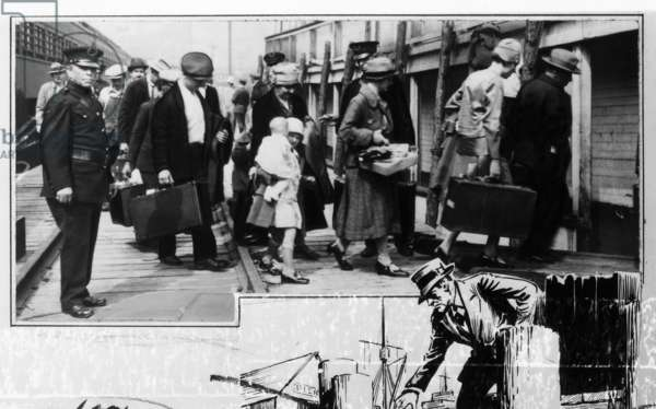 DEPORTATION, c.1935 Immigrants being deported from Ellis Island. Photograph, c.1935.