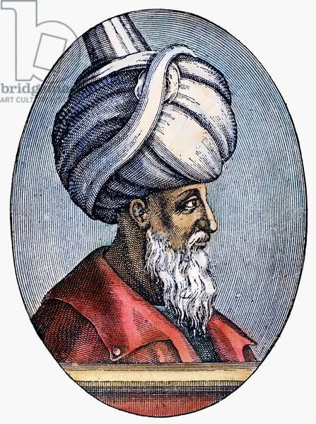 SULEIMAN THE MAGNIFICENT ( c.1494-1566). Sultan of the Ottoman Empire, 1520-1566. Line engraving, 16th century.
