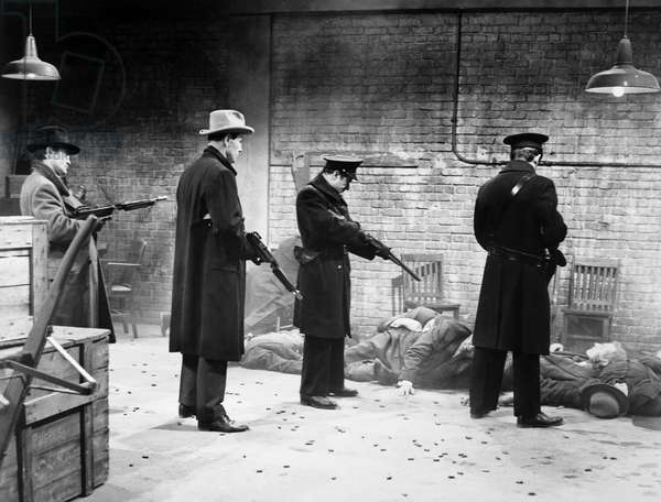 ST. VALENTINE'S MASSACRE Gunned-down gang members. Scene from the film, 'The St. Valentine's Day Massacre,' 1967.