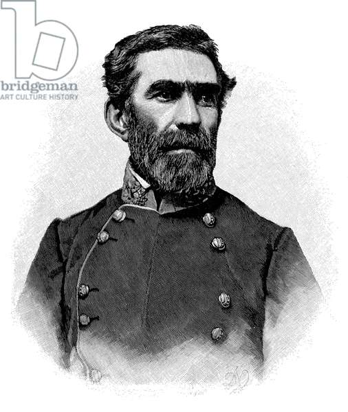 BRAXTON BRAGG (1817-1876) American army commander. Wood engraving, 1887, after a photograph taken during the American Civil War.