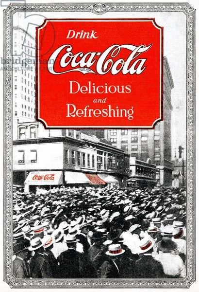 AD: COCA-COLA, 1920 American advertisement for Coca-Cola. Photograph, 1920.
