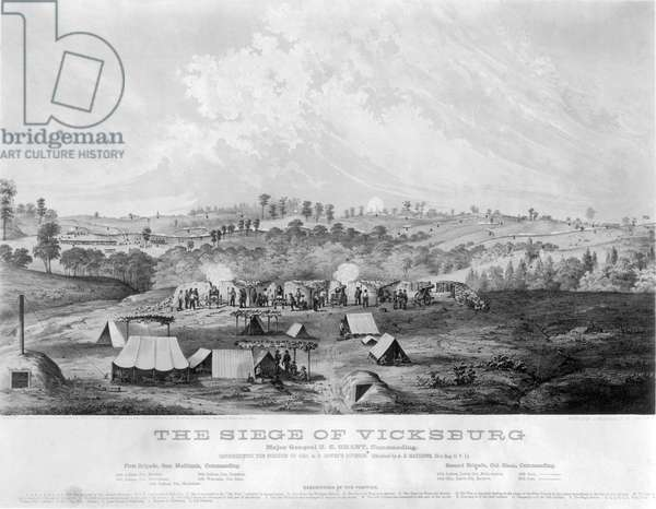 CIVIL WAR: VICKSBURG, 1863 The Siege of Vicksburg, 1863. Lithograph, 1863.