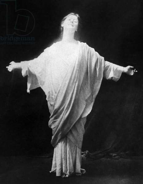 ISADORA DUNCAN (1877-1927) American dancer. Undated photograph.