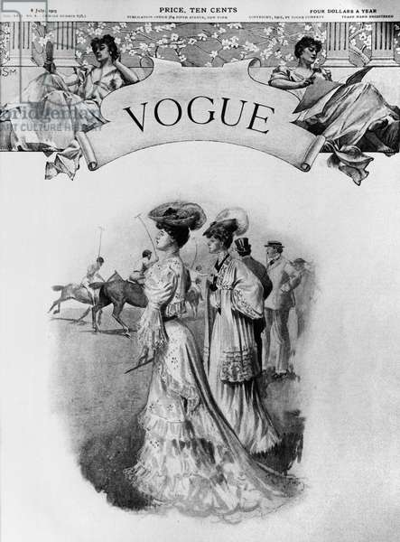 VOGUE MAGAZINE, 1905 Cover of the 6 July 1905 issue of 'Vogue' magazine.