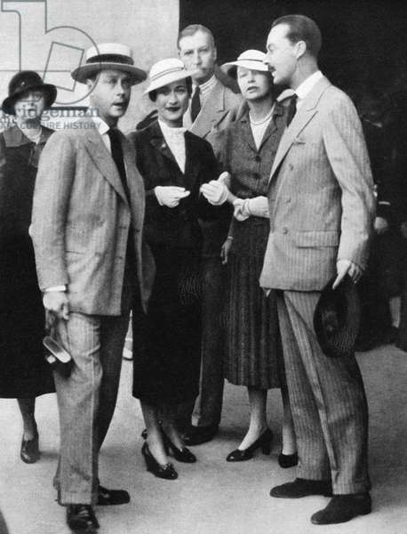 DUKE & DUCHESS OF WINDSOR King Edward VIII and Mrs. Wallis Simpson in Salzburg, Austria, before he abdicated the throne to marry. Photograph, 1936.