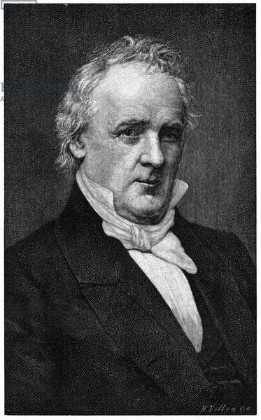 JAMES BUCHANAN (1791-1868) 15th President of the United States. Engraving after a photograph by Mathew Brady, c.1859.