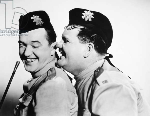 LAUREL AND HARDY Stan Laurel (left) and Oliver Hardy in 'Bonnie Scotland,' 1935.