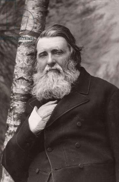 JOHN RUSKIN (1819-1900) English critic. Photograph.