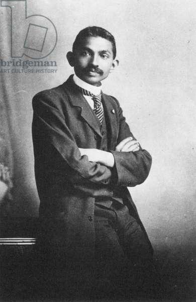 MOHANDAS GANDHI (1869-1948) Hindu nationalist and spiritual leader. Gandhi as a barrister in Johannesburg, South Africa, 1906.