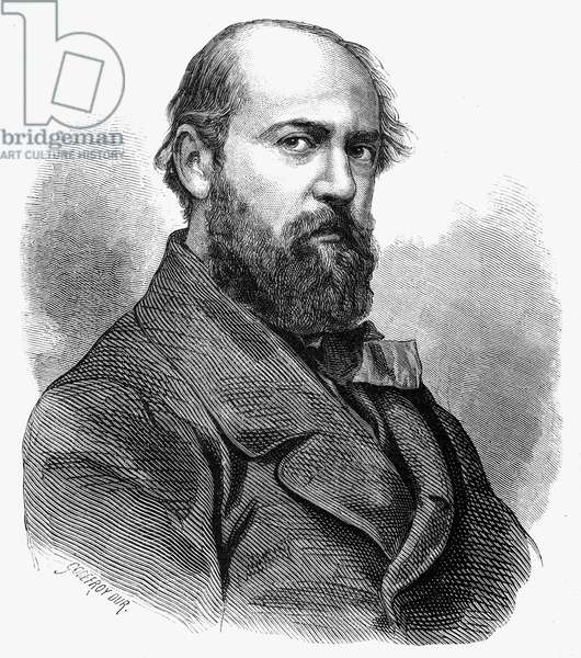 HENRI MURGER (1822-1861) French writer. Wood engraving after a photograph, c.1854, by Nadar.