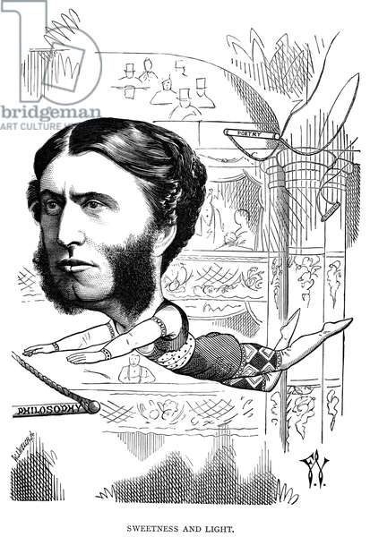 MATTHEW ARNOLD (1822-1888) English poet and critic. Caricature, 1872, by Frederick Waddy.