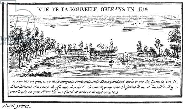 NEW ORLEANS, 1719 Contemporary engraving.