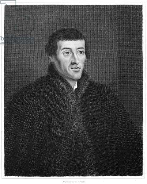 NICOLAUS COPERNICUS (1473-1543). Polish astronomer. Steel engraving, English, 1853.
