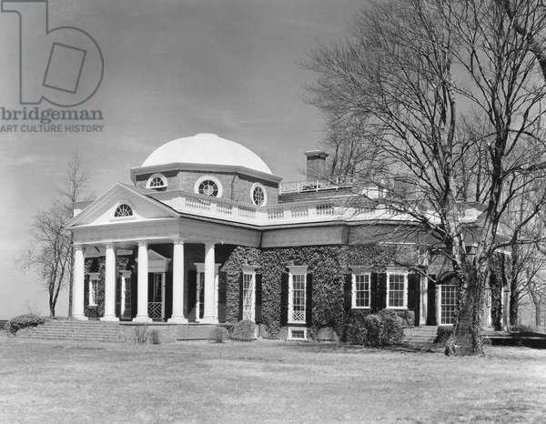 JEFFERSON: MONTICELLO The home of Thomas Jefferson near Charlottesville, Virginia.