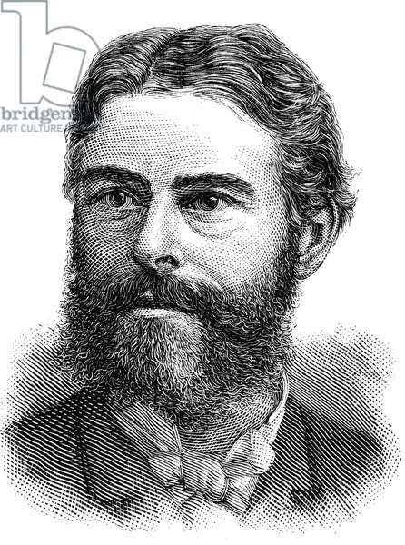 EDWARD DRINKER COPE (1840-1897). American paleontologist. Line engraving, American, 1884.