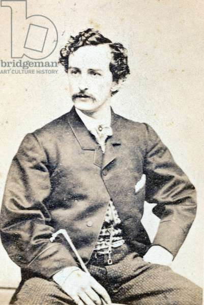 JOHN WILKES BOOTH (1838-1865). American actor and assassin of President Abraham Lincoln. Original carte-de-visite photograph, 1865.
