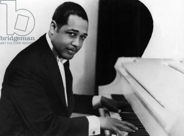 DUKE ELLINGTON (1899-1974) American musician and composer. Photograph, 1943.