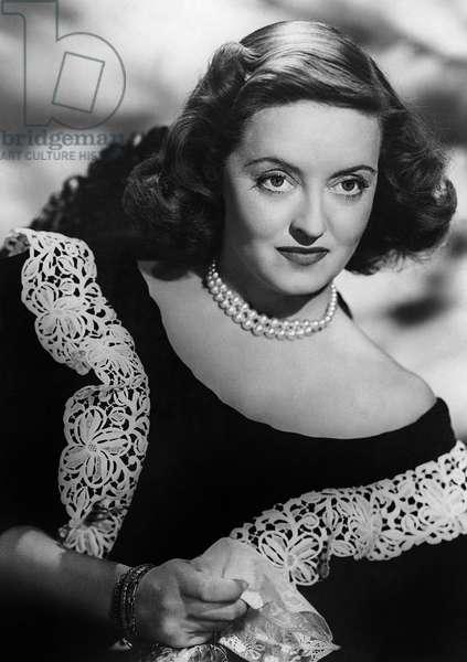 BETTE DAVIS (1908-1989) American actress. Photograph, c.1945.