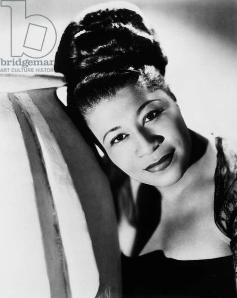ELLA FITZGERALD (1917-1996) American singer. Photographed in the 1940s by Maurice Seymour.