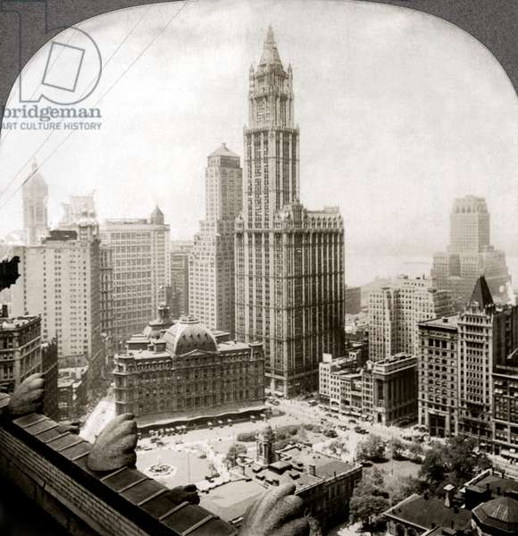 WOOLWORTH BUILDING, 1920s The Woolworth Building, New York City, the world's tallest building at the time of its completion in 1913. Stereograph view, 1920s.