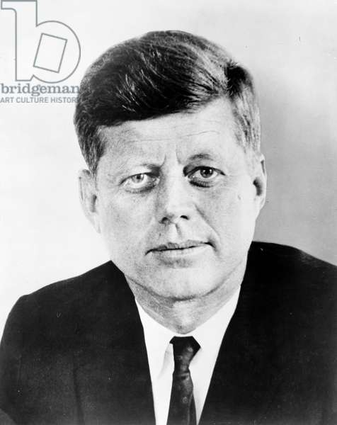 JOHN F. KENNEDY (1917-1963) 35th President of the United States. Photograph, 1961.