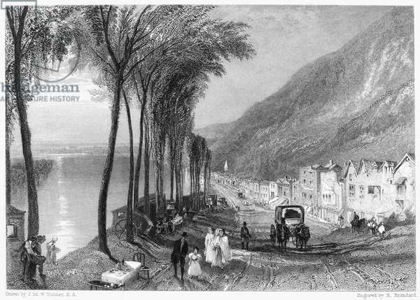 TURNER: VIEW ON THE SEINE. Steel engraving, 1853, after Joseph Mallord William Turner.