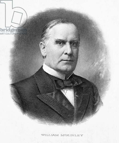 WILLIAM McKINLEY (1843-1901). 25th President of the United States. Steel engraving.