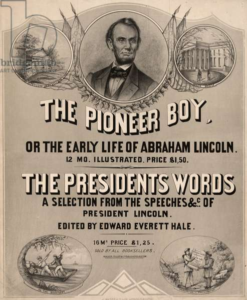 POSTER: LINCOLN, 1865 Poster advertising two publications about the life of Abraham Lincoln, published by J. Mayer & Co. Lithograph, 1865.