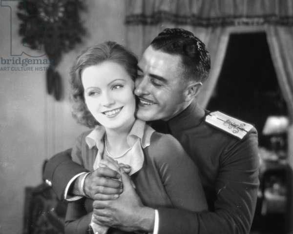 GRETA GARBO (1905-1990) Née Greta Louisa Gustafsson. Swedish-born American actress. Garbo and John Gilbert in a scene from 'Love', the silent film version of 'Anna Karenina,' 1927.