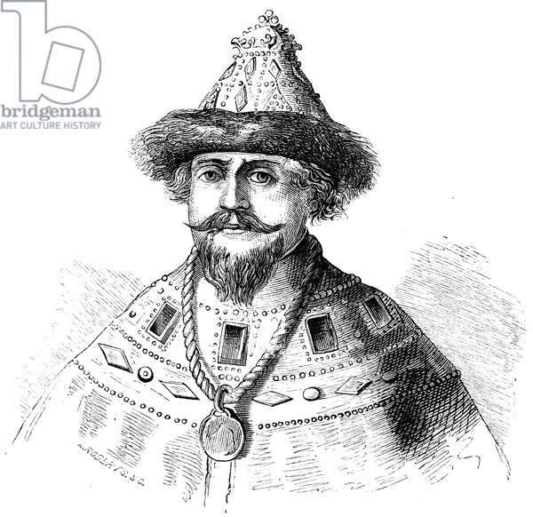 MICHAEL ROMANOV (1596-1645) Russian czar, 1613-45. Wood engraving, 19th century.
