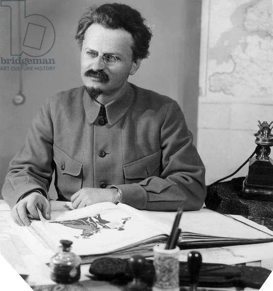 LEON TROTSKY (1879-1940) Né Lev Davidovich Bronstein. Russian Communist leader.