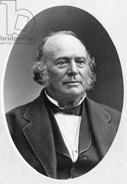 LOUIS AGASSIZ (1807-1873) American (Swiss-born) naturalist. Original cabinet photograph.