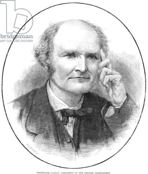 ARTHUR CAYLEY (1821-1895) English Mathematician. Wood engraving, 1883.