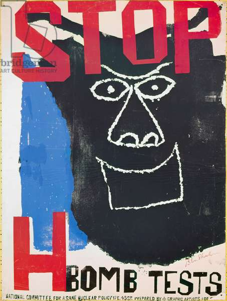 SHAHN: ANTI-NUCLEAR POSTER Poster for the New York City based National Committee for a SANE Nuclear Policy, by Ben Shahn, c.1962.