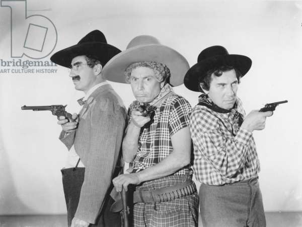 THE MARX BROTHERS, 1930s Groucho, Harpo and Chico.