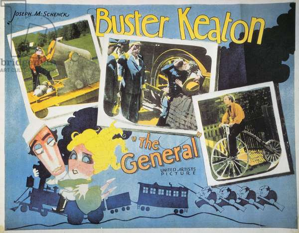 KEATON: THE GENERAL, 1927 Poster for the 1927 film 'The General,' directed by and starring Buster Keaton.