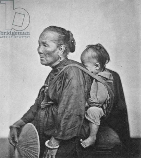 CHINA: BOATWOMAN, 1870s A Cantonese boatwoman and child, China, 1870s.