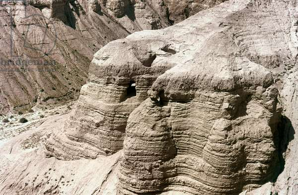 QUMRAN: DEAD SEAL SCROLLS Cave Number 4, where some of the Dead Sea Scrolls were discovered in 1947.