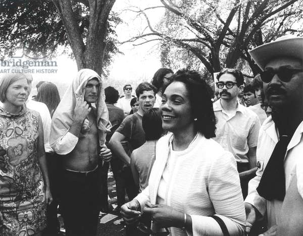ANTI-WAR PROTEST, 1970 Coretta Scott King joins thousands of protesters in Washington, D.C., in May of 1970, to demonstrate against the war in Vietnam, the U.S. incursion into Cambodia, and the Kent State killings.