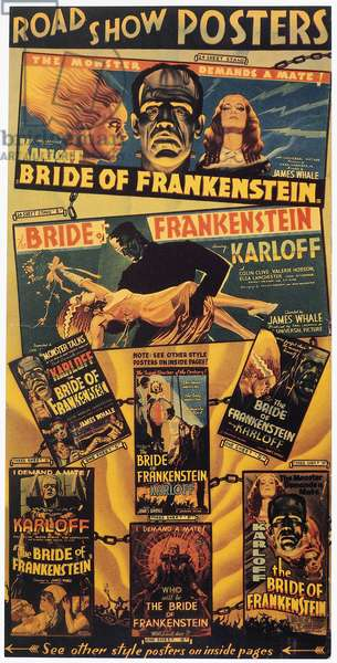 BRIDE OF FRANKENSTEIN, 1935 The Bride of Frankenstein poster page, 1935.