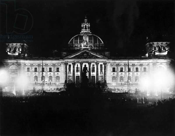 BERLIN, REICHSTAG, c.1930 Exterior view of the Reichstag before the 1933 fire. Photograph, c.1930.