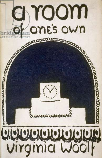 WOOLF: A ROOM OF ONE'S OWN Cover of the first edition of Virginia Woolf's essay 'a room of one's own,' London, 1929.
