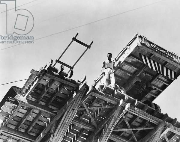 THE WAGES OF FEAR, 1953 Yves Montand in 'The Wages of Fear' directed by Henri-Georges Clouzot. Photograph, 1953.